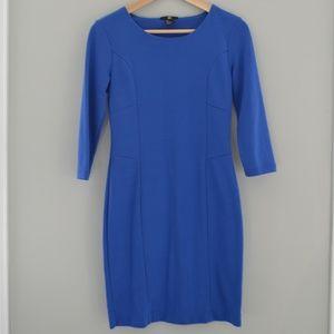 H&M Women's Dress 3/4 Sleeve Royal Blue Size Small